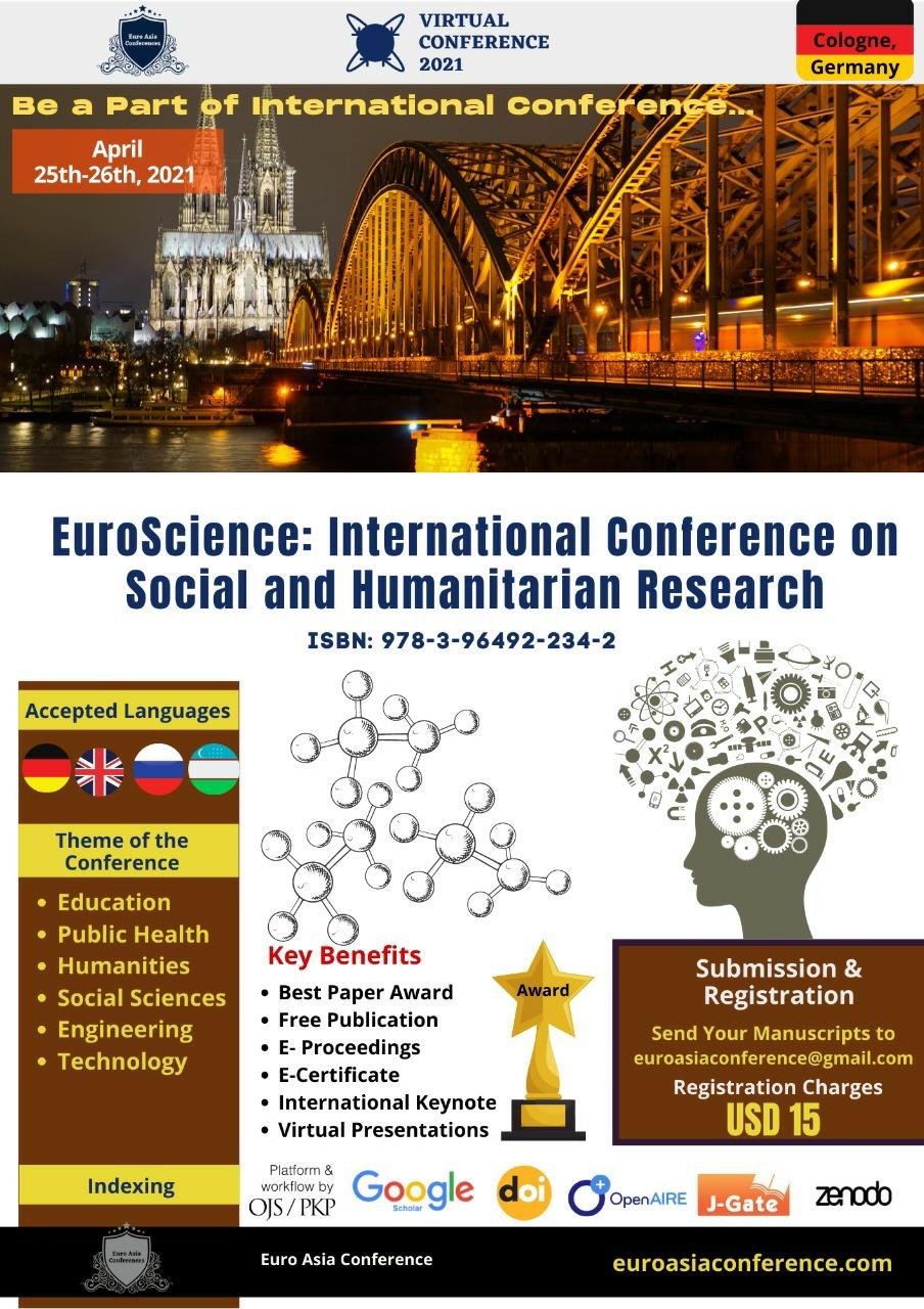 View Vol. 4 No. 1 (2021): EUROSCIENCE-2021